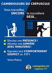 Campagne de prévention contre les cambriolages du crépuscule