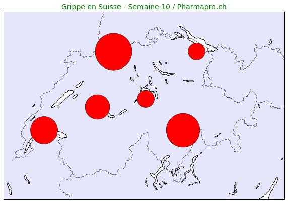 La grippe toujours au-dessus du seuil épidémiologique, le nord de la Suisse très touché