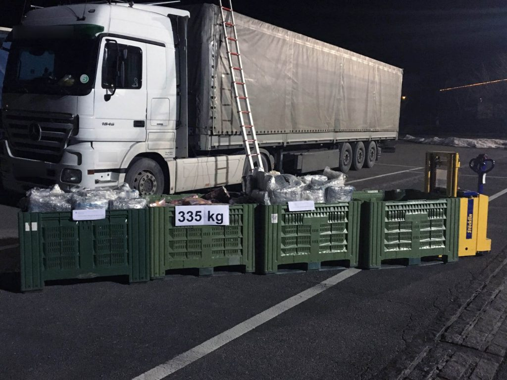 Martigny : Trafic international de marijuana – Saisie de 335 kilos